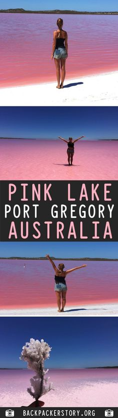 The amazing Pink Lake is located in Port Gregory, Western Australia. The Pink Lake is about 70 square kilometers and lying a few meters below sea level. Sydney Australia Travel, Cairns Australia, Australia Tours, Western Australia, Australia Crafts, Australia 2018, Best Places To Travel, Places To See, Pink Lake