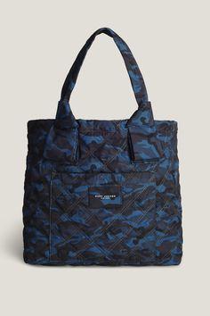 Camo Printed Nylon Knot Tote, Navy Multi. Nylon ToteCamo PrintHand BagsMarc  JacobsTote ...