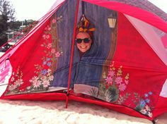 Becky Gilmour camps it up with her sister in a tepee village on Lantau Island in Hong Kong with our Cottage Ridge tent.