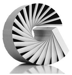 marcello Morandini, optical art, black and white, stripes art, 60's art, minimal art, circle art, circle optical