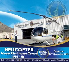 ENROLL NOW for our Private Pilot License - Helicopter Course!   For more details visit: https://www.fujaa.ae/pplh.php   Or contact us at:  Tel: +971 9 222 4747  Email: cservice.fujaa@fng.ae