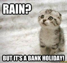 Happy Bank Holiday Weekend everyone! Wish the rain away please... Shop local
