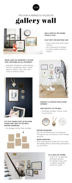 Watch our video on creating a perfectly eclectic gallery wall. We compiled  a few of our tips and tricks on the blog!