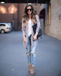 """c920aca8d038 Maria Vizuete (Mia Mia Mine) on Instagram  """"Today on the blog wearing the  softest sweater (under  50) and my favorite ripped jeans."""