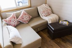 The Big Freedom: a modern/rustic tiny house with all the amenities and comforts of a traditional home is less than 300 sq ft!