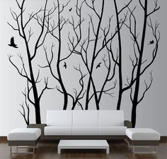 Cheap wall decor, Buy Quality wall art decor directly from China tree wall sticker Suppliers: Large Wall Art Decor Vinyl Tree Forest Decal Sticker (choose size and color) tree wall sticker mural Art wall decoration Bird Wall Decals, Tree Decals, Wall Stickers Murals, Vinyl Wall Art, Wall Art Decor, Vinyl Decor, Wall Murals, Metal Tree Wall Art, Large Wall Art