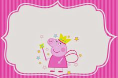Etiquetas para Candy Bar de Peppa Pig Hada para Imprimir Gratis. Party Printables, Peppa Pig Printables, Fairy Birthday Party, Pig Birthday, Birthday Parties, Peppa Pig Imagenes, Cumple Peppa Pig, Oh My Fiesta, Twin First Birthday