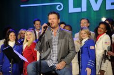 Current GRAMMY nominee Blake Shelton sits down to tell some true stories during a performance with the USO show troupe on Dec. 19 in New York