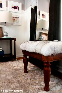 Fur Ottoman: Easiest Project Ever