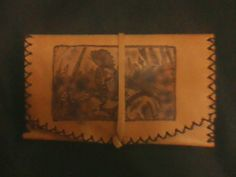 Hand made tabacco punch from leather with pyrografy! theme The 300