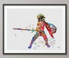 Legend of Zelda Modern Link Watercolor illustrations by CocoMilla, $15.00