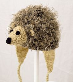Huge selection of character hats and fashion for any age baby - adult. Crochet and knit geeky accessories. One of a kind animal hats. Crochet Animal Hats, Knitted Animals, Crochet Beanie, Crochet Toys, Crochet Baby, Knitted Hats, Knit Crochet, Art And Hobby, Baby Knitting
