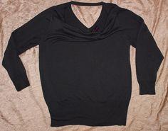 Torrid 4X Gray Lightweight Cowlneck Knit Sexy Peekaboo Back Sweater Blouse Shirt