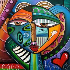 Hypnotik - Original Large Abstract Contemporary Modern POP Art Painting by Fidostudio Tom Fedro, Pop Art Face, Pop Art Collage, Fine Art Amerika, Modern Art Movements, Chicago Artists, Abstract Photography, Art Pages, American Art