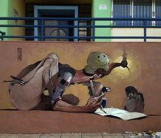 Warped Street Art Portraiture by Stamatis Laskos