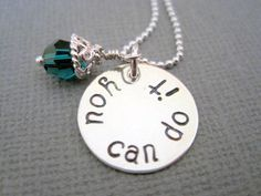 Handstamped necklace you can do it sterling silver by marybeadz, $30.00