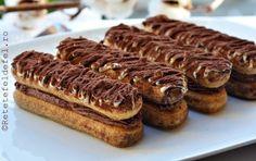PISCOTURI CU CREMA DE MASCARPONE SI CIOCOLATA | Rețete Fel de Fel Chocolate Lovers, Chocolate Recipes, Pastry Cake, Sweet Cakes, Ice Cream Recipes, Something Sweet, Cake Recipes, Sweet Treats, Deserts