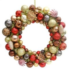 Martha Stewart Living Snowberry 24 in. Shatter-Resistant Ornament Wreath-TSS-41068A at home depot