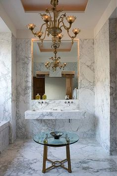 luxurious bathrooms by a design maestro: yes, it's pierre yovanovitch and, of course, Paris! ~ themodernsybarite http://www.themodernsybarite.com/2012/09/luxurious-bathrooms-by-design-maestro.html