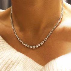 Diamond Tennis Necklace, Diamond Solitaire Necklace, Diamond Jewelry, Diamond Necklaces, Gold Earrings, Pandora Earrings, Silver Jewellery, Statement Earrings, Silver Ring