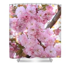 Blossoms Shower Curtain featuring the photograph Pink Blossoms Beauty by Carol Groenen  #springshowercurtains #showercurtain #showercurtains #blossoms #springdecor #spring #pinkblossoms