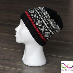 Lue med mønster – Tid Til Overs Crochet Hats, Beanie, Knitting, Mini, Silver, Inspiration, Threading, Hand Crafts, Knitting Hats