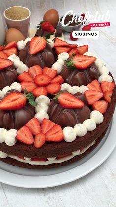 Creative Desserts, Fancy Desserts, Creative Food, Delicious Desserts, Fun Baking Recipes, Sweet Recipes, Cake Recipes, Dessert Recipes, Cooking Recipes