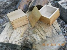 finger jointed boxes from reclaimed wood