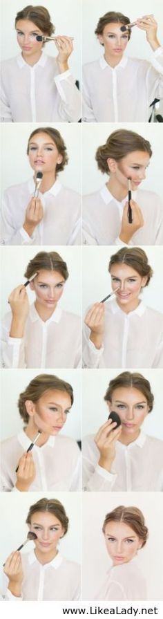 Have a fancy dinner or date to go to.  Here is a quick rundown on how to contour your face to create an amazing, flawless look.