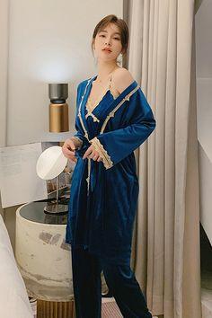 Night Gown, Night Suit, Silk Pjs, Pajama Suit, Night Dress For Women, Satin Pajamas, Sleepwear Sets, Nightwear, Lingerie