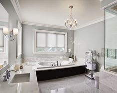 blue and white A Tranquil Bathroom Benjamin Moore - Summer Shower Bathroom Colors, Bathroom Inspiration, Top Paint Colors, Paint Colors, Bathrooms Remodel, House, Home, Bathroom Design, Painting Bathroom