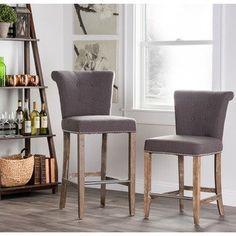 Kosas Home Rafa Counter Stool 24 inch | Overstock.com Shopping - The Best Deals on Bar Stools