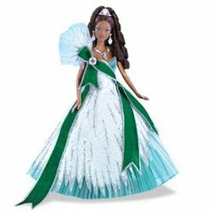 2005 Holiday Barbie - Emerald (Ethnic) by Mattel. $48.88. Don't miss your chance to own a Sears Exclusive 2005 Holiday Barbie. The special edition Barbie doll will no longer be offered after this 2005 edition!Every year for over a decade, Barbie doll has celebrated the season with a special edition doll. This year's doll is from designer Bob Mackie, known for his breathtakingly beautiful gowns. The 2005 Holiday Barbie is wearing a gown embellished with glittering sparkles, w...