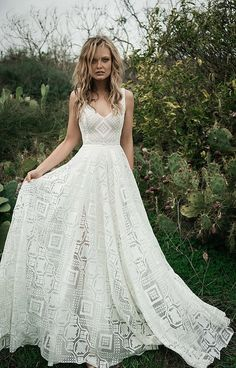 f969ad928c Vintage Brautkleider - Finde dein Brautkleid im Hippie Stil. Brautmode aus  Spitze und elegante