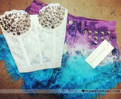 I want this :( #studded #corset #dyed #shorts #runwaydreams