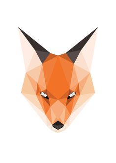 Woodland Animal Print Geometric Animal Head Orange Fox