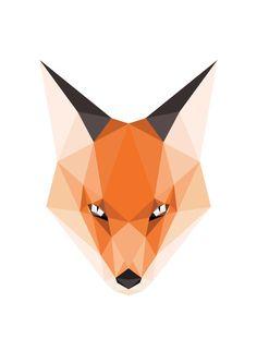 Bosques geométricos impresión Animal cabeza de por SunberryGraphics
