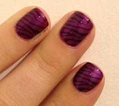 Purple & Black Zebra Print