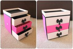 10 Useful DIY Shoebox Crafts   Do it yourself ideas and projects  -  MAKE UP, HAIR ACCESSORIES, ETC. STORAGE....CUTE!