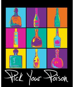 New pick your poison tee coming soon. Art meets alcohol.