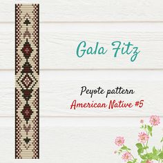 American native brown bead loom pattern #beadloom #braceletpattern #beadloompattern #galafitz #nativeamericans