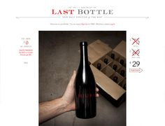 Clean website design example: Last Bottle
