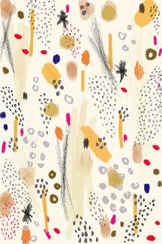 Illustration by Ashley Goldberg Pretty Patterns, Beautiful Patterns, Color Patterns, Abstract Pattern, Pattern Art, Textile Patterns, Textile Design, Whatsapp Wallpaper, Pattern Illustration