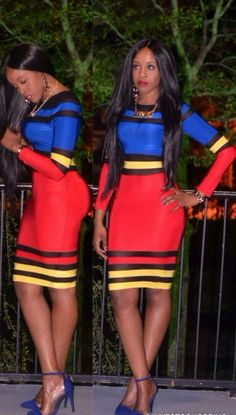 Free shipping 2014  New Fashion Sexy colorful striped bandage Dress TY049 S M L Plus Size