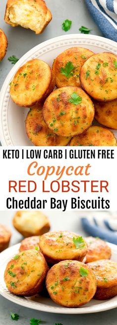 Keto Copycat Red Lobster Cheddar Bay Biscuits - Keto Recipes - Ideas of Keto Recipes - Keto Low Carb Copycat Red Lobster Cheddar Bay Biscuits. These biscuits are tender fluffy and taste like the restaurant version. Low Carb Keto, Low Carb Recipes, Diet Recipes, Healthy Recipes, Easy Recipes, Crab Recipes, Salmon Recipes, Cookie Recipes, Recipies