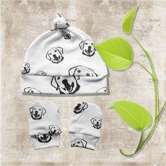 Labrador Retriever Organic Baby Hat Organic Newborn Beanie Organic