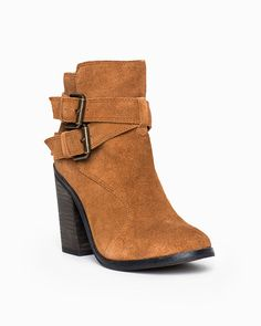 40906ff6ff8224 suede with a chunky heel -- I have found that the chunky look is flattering