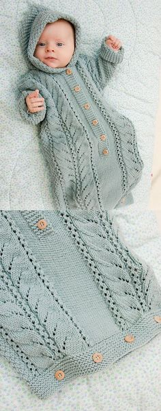 Baby Knitting Patterns Free Knitting Pattern for Cable Snooze Baby Sleeping Bag you can find similar pins below. Knitting For Kids, Free Knitting, Knitting Projects, Knitting Ideas, Sewing Projects, Free Sewing, Baby Knitting Patterns Free Cardigan, Sweater Patterns, Sewing Ideas