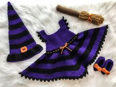 Free Witch Costume Crochet Pattern   Baby Witch Costume Crochet Pattern