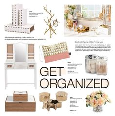 """Get Organized"" by helenevlacho ❤ liked on Polyvore"